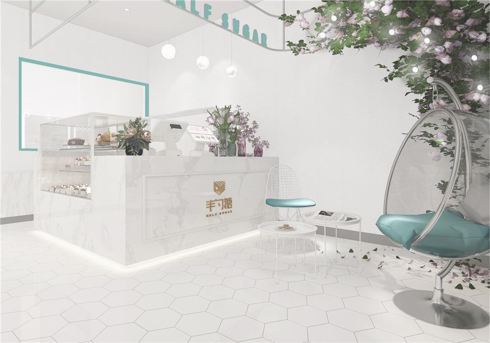 浙江温州半勺糖甜品店设计