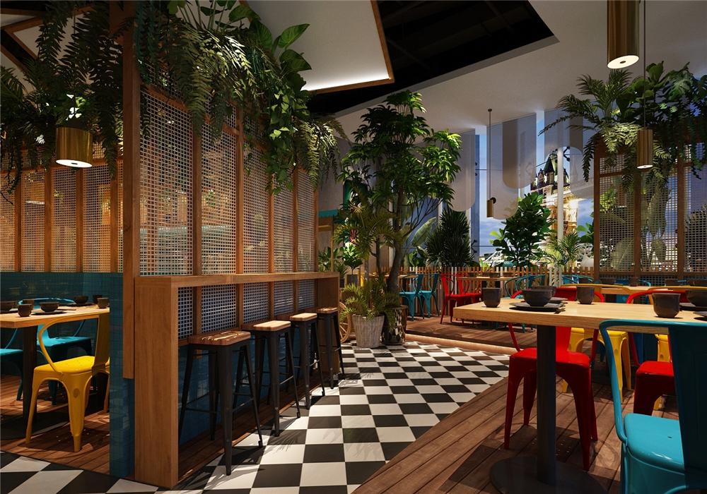 吉安筷樂碼頭肉蟹煲餐廳設計