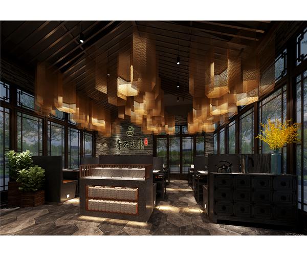 舟山新中式火锅店餐厅设计