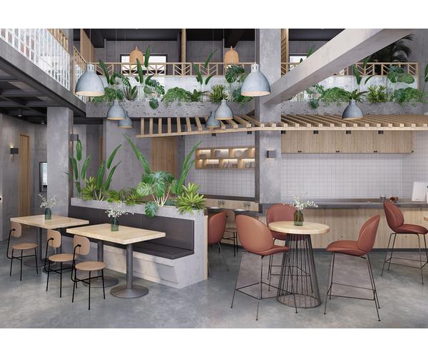 广西溪水长流餐厅设计