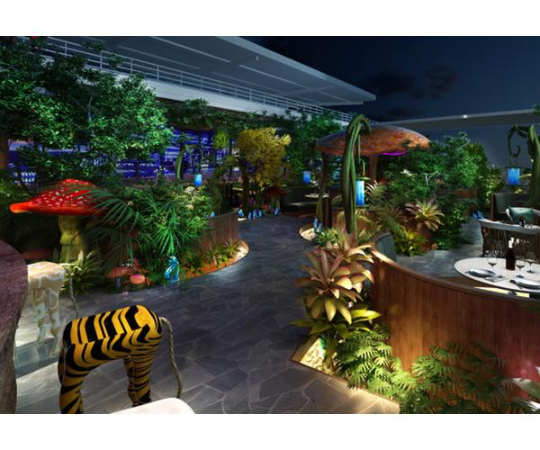 菲律賓makati circuot火山灰 音樂餐廳設計