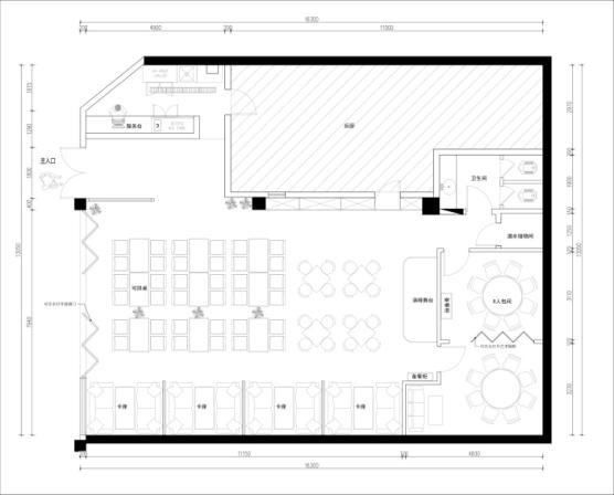 餐廳設計平面圖