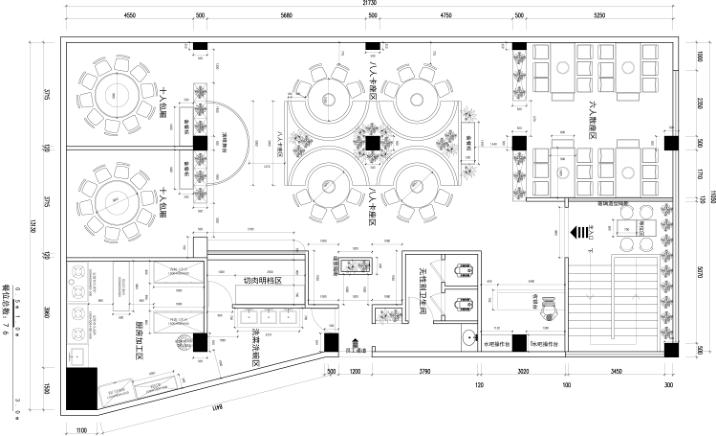 餐厅设计平面图