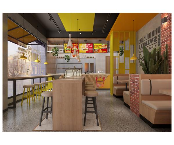 柬埔寨汉堡店设计