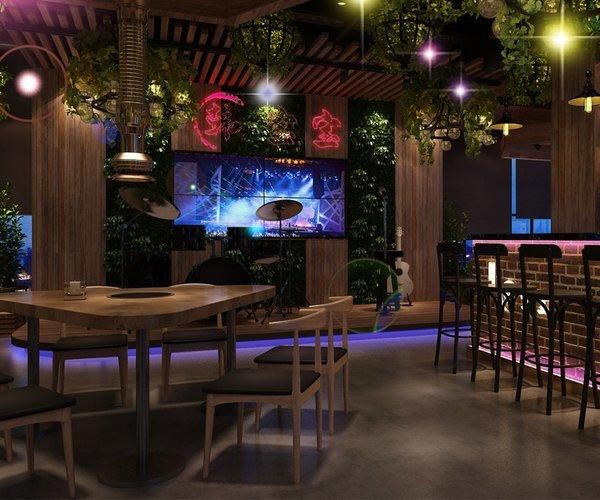 韩宝宝音乐餐厅设计