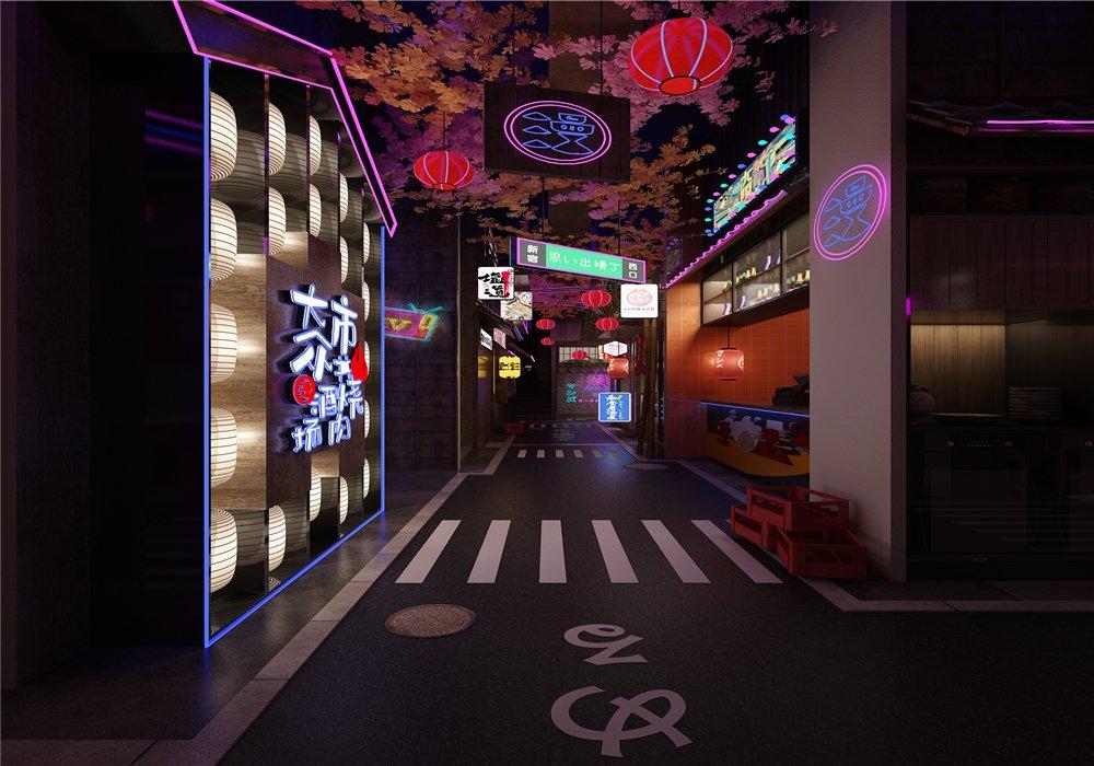 漫滋日料店设计—南京市高淳区店